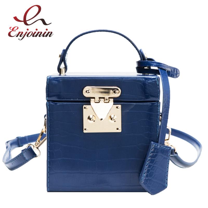 Pu Leather Stone Pattern Box Purses and Handbags Crossbody Bag Female Design Fashion Women Shoulder Bags Party Brand Clutch Bag