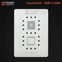 BGA – pochoir pour Samsung Exynos 9610 CPU, reballage, plantation, treillis en étain, réparation