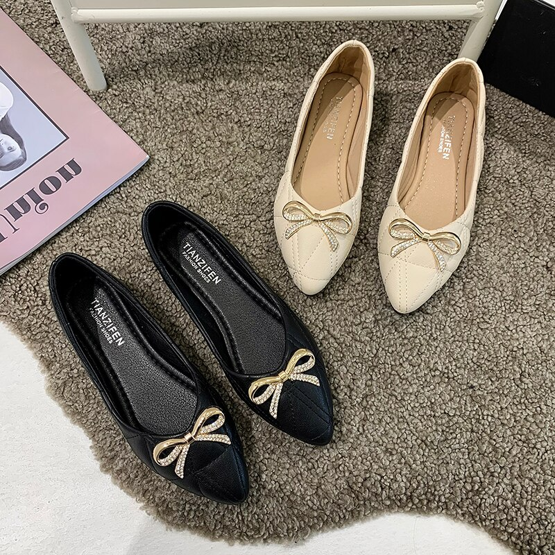 Women's Spring Flats Shoes,Off White,Black Loafers Flats Shallow,Casual,Comfort,Classic,Medical,Hara