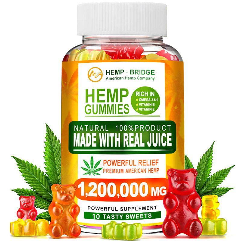 Minch Hemp Gummies CBD Gummies Rich In Vitamins B/E Relief Stress Help Sleep 10 Counts Sweet Gummy For Men And Women