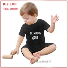 Climbing Dad newborn size romper baby clothes Baby Clothing Summer Unisex Baby Clothes romper girl a