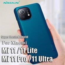 For Xiaomi Mi 11 Case NILLKIN Super Frosted Shield Case For Xiaomi Mi 11 Lite Mi 11 Pro Bumper Shell For Xiaomi Mi11 Ultra Cover