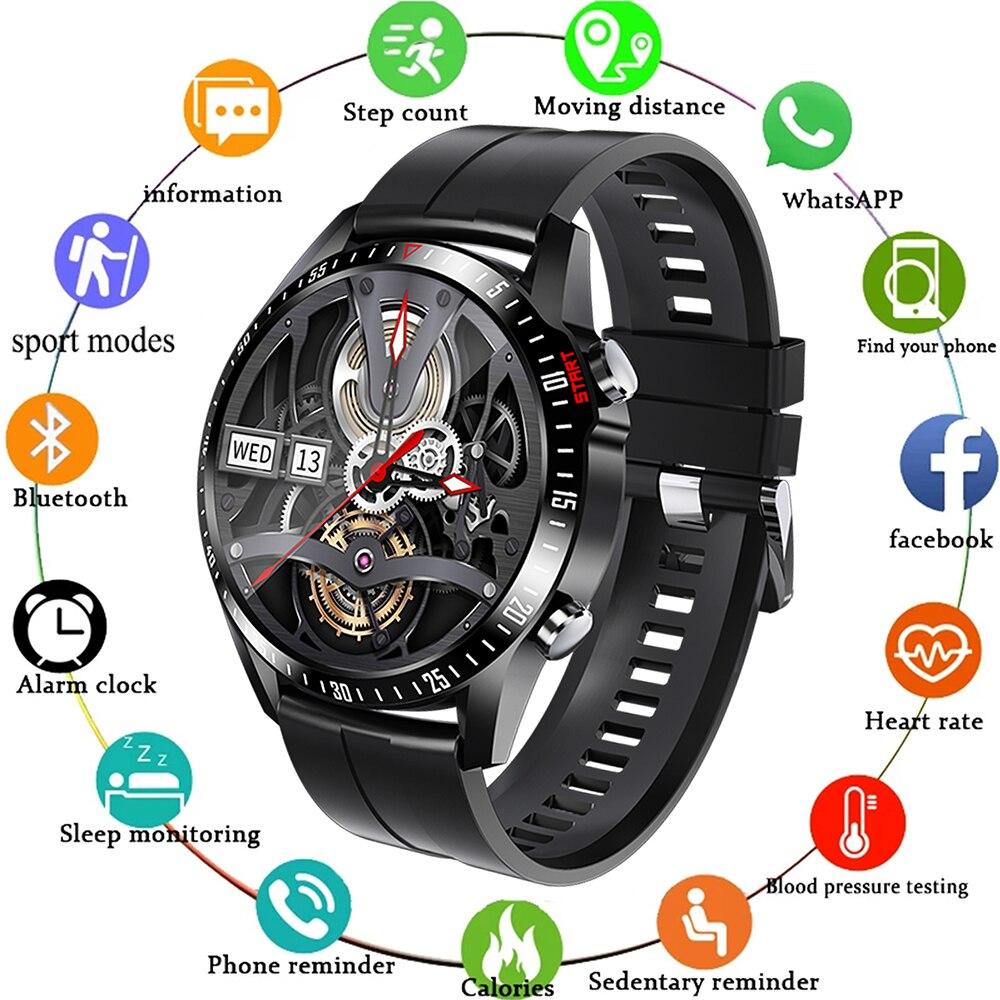 جديد Smartwatch رجل إمرأة كامل شاشة تعمل باللمس IP67 مقاوم للماء بلوتوث متصلة الرياضة ساعة ذكية لنظام أندرويد/IOS