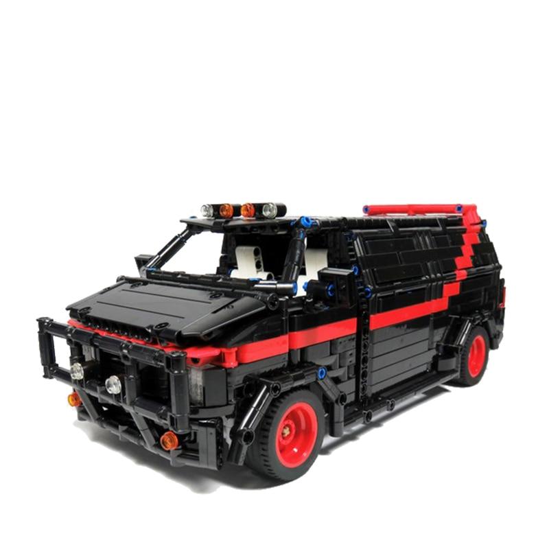 MOC مدينة مركز شرطة سيارة اللبنات للمدينة SWAT فريق شاحنة منزل كتل التكنولوجيا الفائقة لتقوم بها بنفسك تجميع لعب للأولاد الأطفال