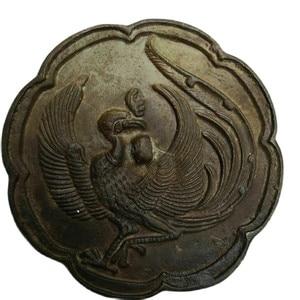 China Pld Bronze Old Feng Shui Bronze Mirror Phoenix Mirror