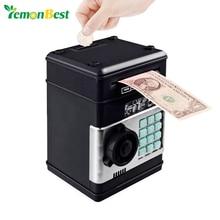 Elektronik kumbara ATM şifre para kutusu nakit para tasarrufu kutusu ATM banka kasa otomatik kasa banknot noel hediyesi