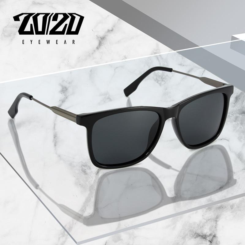 2020 Brand Design Square Sunglasses Men Polarized Sun Glasses Women Shades Metal Tepmle oculos de so