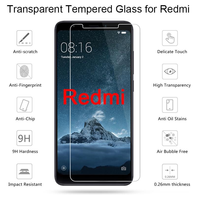 1 peça/2 peças de vidro protetor de proteção para redmi 2 3s 3x 4 4x 4a anti-risco protetor de tela para redmi 5 plus 5a 6 pro hd vidro