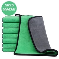 10pcs car wash microfiber towel auto cloth car cleaning door window care thick strong water absorption for car home accessories