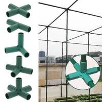 5pcs plastic 16mm filled steel tube parts gardening greenhouse joints garden plastic tee connectors bracket diy fittings