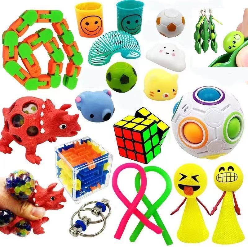 24 Pack Fidget Sensory Toy Set Stress Relief Toys Autism Anxiety Relief Stress Pop Bubble Fidget Sensory Toy for Kids Adults enlarge