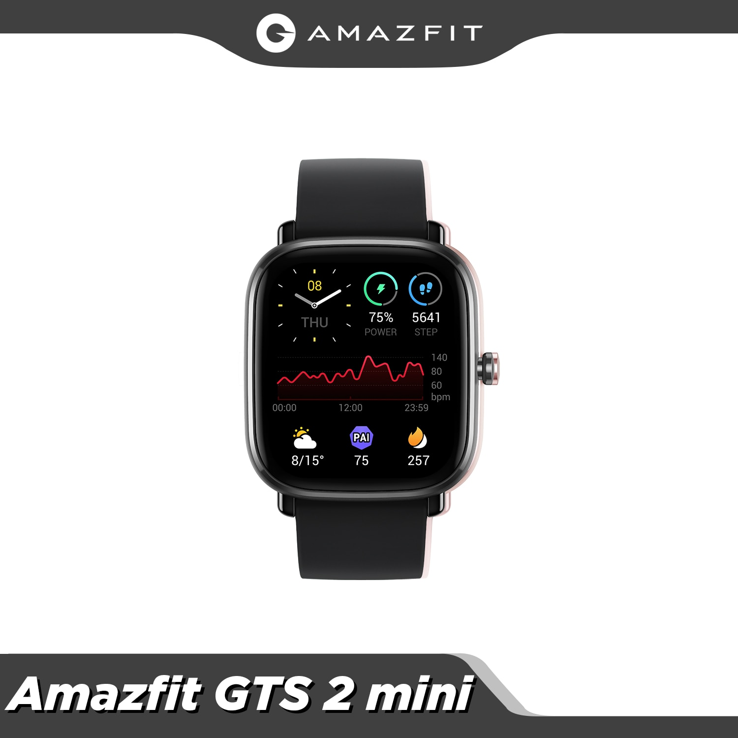 Global Version Amazfit GTS 2 Mini GPS Sports Smartwatch Bluetooth 5.0 Female Cycle Tracking 14 Days Battery Life For Android