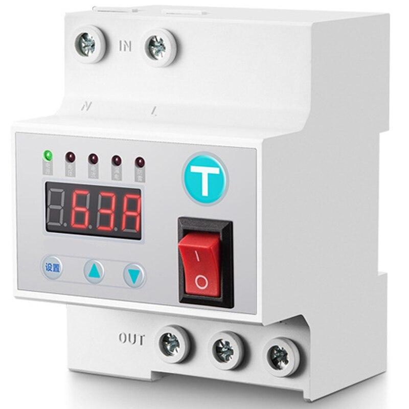 Reconexión automática 63A caliente del disyuntor con protección contra sobretensión y subtensión contra sobrecorriente contra sobretensiones Pro