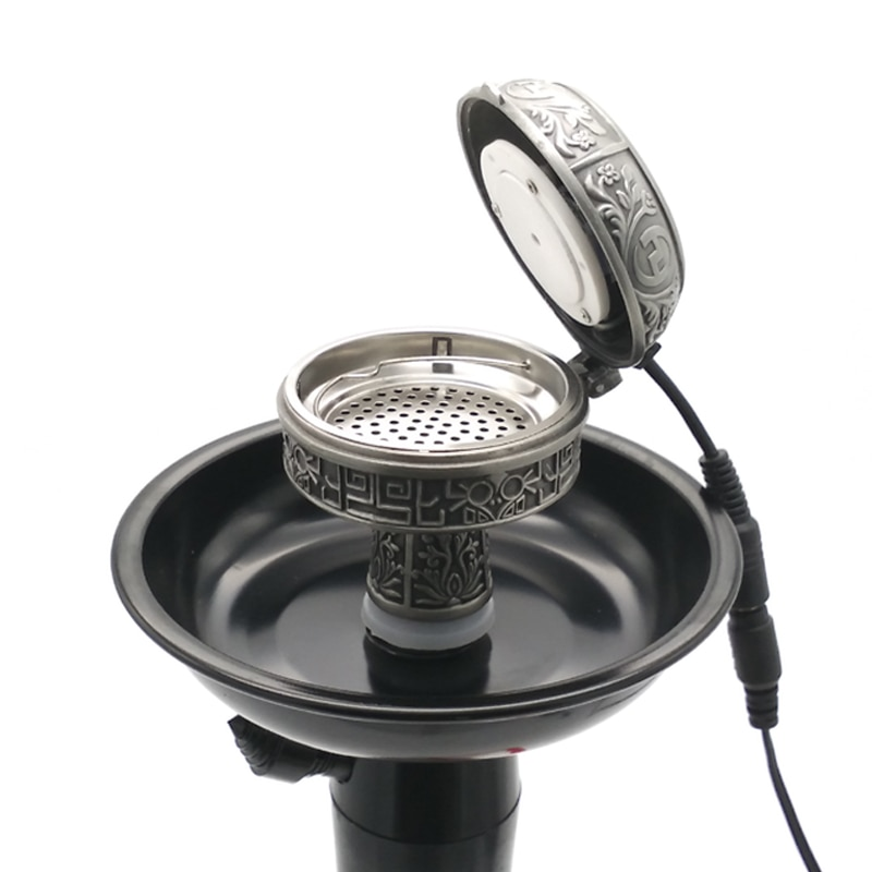 Multifunctional Metal E-Shisha Smokepan Electronic Hookah Tobacco Bowl & Charcoal Stove Sheesha/Chicha/Narguile Accessories enlarge