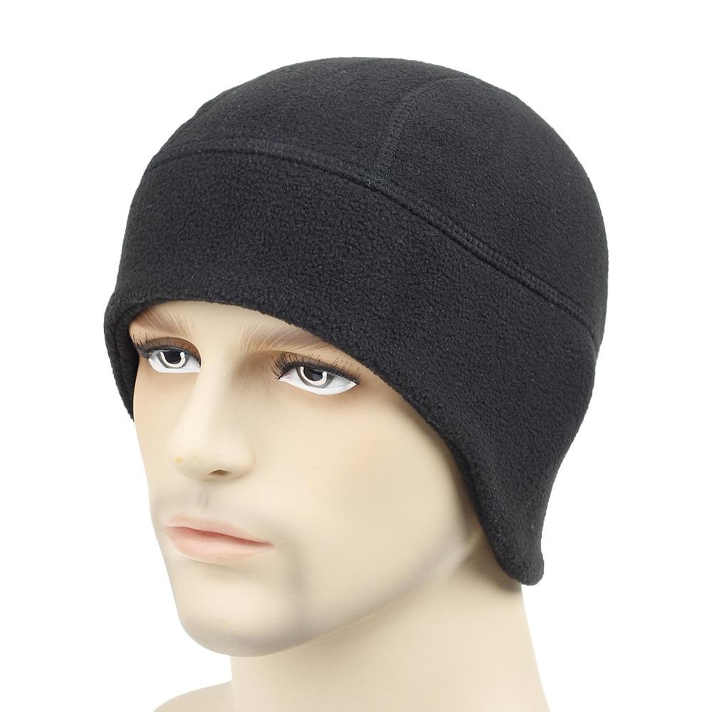 Winter Hats Men Women Beanies Warm Fleece Solid Hat Apparel Accessories Outdoor Sports Skiing Men Be