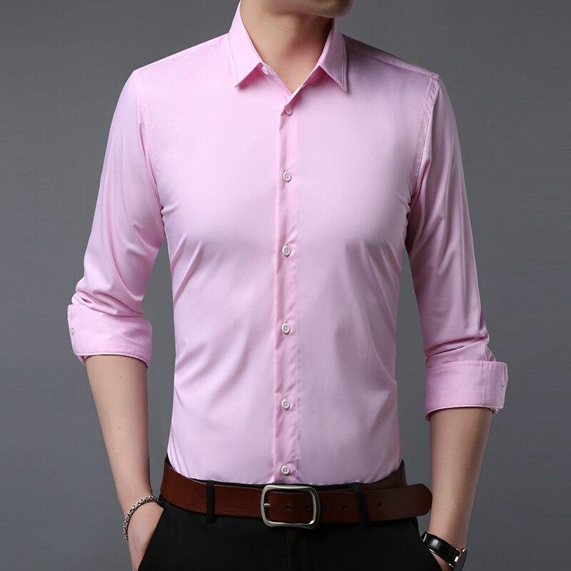 قميص رجالي طويل الأكمام الأعمال عادية 2021 جديد الربيع والخريف موضة سليم التلبيب بلون قمصان zde1779