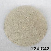 Customized product personalizd Embroidery imprint  Linen Kippot Kippa yarmulke Jewish cap kippah kullies Beanies Jewish Skull