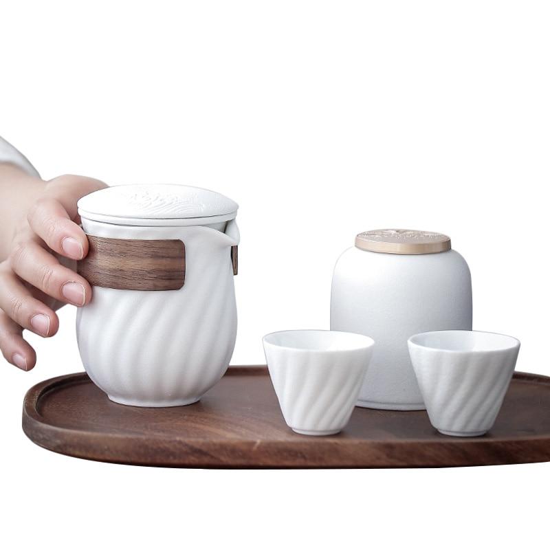 طقم شاي الكونغ فو ، إبريق شاي ، صندوق تخزين Tieguanyin ، حقيبة سفر ، طقم شاي ، إبريق شاي ، غلاية ، زخرفة يدوية كهدية