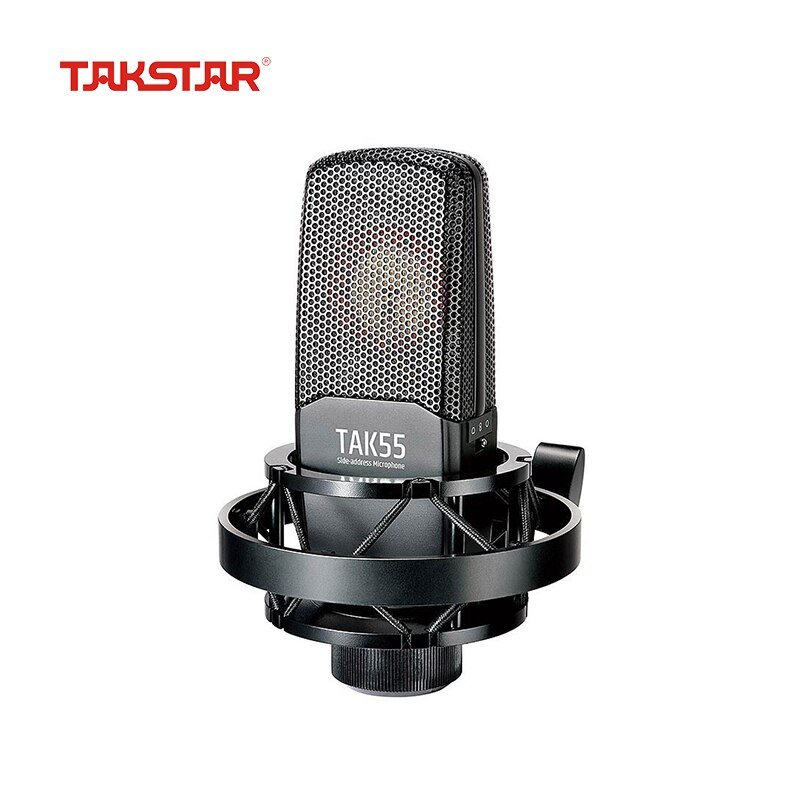 TAKSTAR-micrófono de grabación de dirección lateral TAK55, Condensador Profesional con cable, montaje...