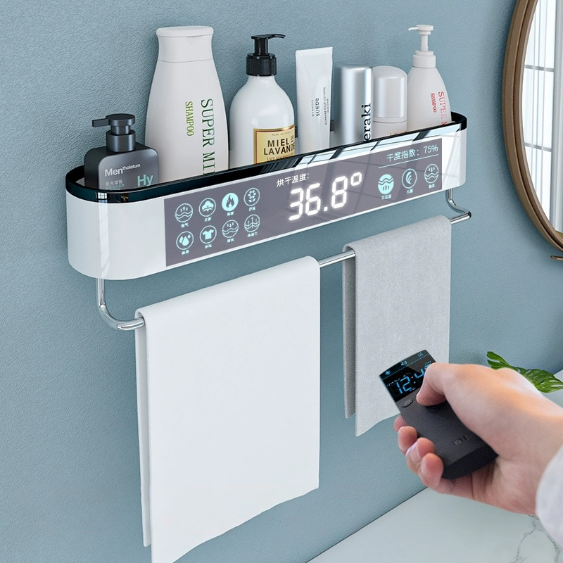 MICCK Bathroom Shelf Shampoo Shower Shelves Wall Mounted For Toilet Waterproof Bath Organizer Cosmetic Shelf Bathroom Towel Rack