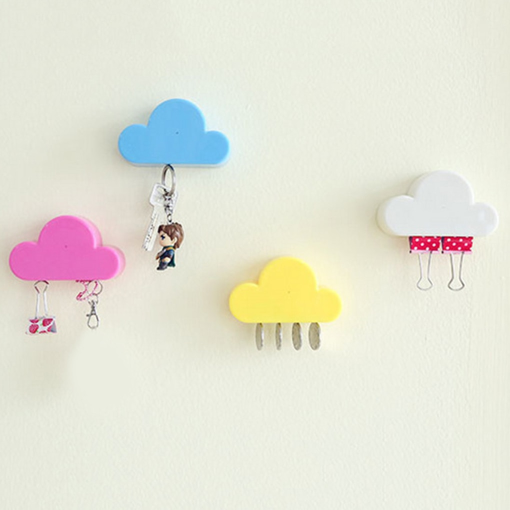 Pink Yellow Cloud Shape Magnets Wall Key Holder Home Storage Holder Home Storage Holder Wholsale/Dropshipping