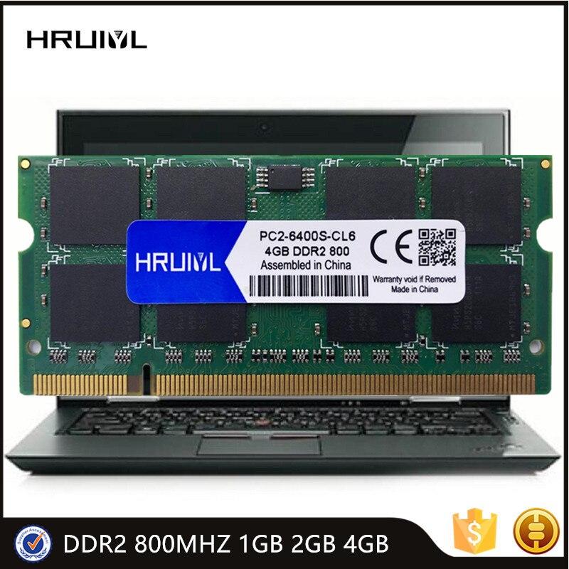 HRUIYL Memoria Ram DDR2 800MHZ 1GB 2GB 4GB 1,8 V Sodimm cuaderno de alto rendimiento PC2 6400 200Pin portátil Memoria palo nuevo