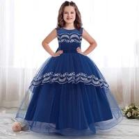 4 14 years elegant occasions long evening dress girl gown kids dresses for girls children princess wedding dress