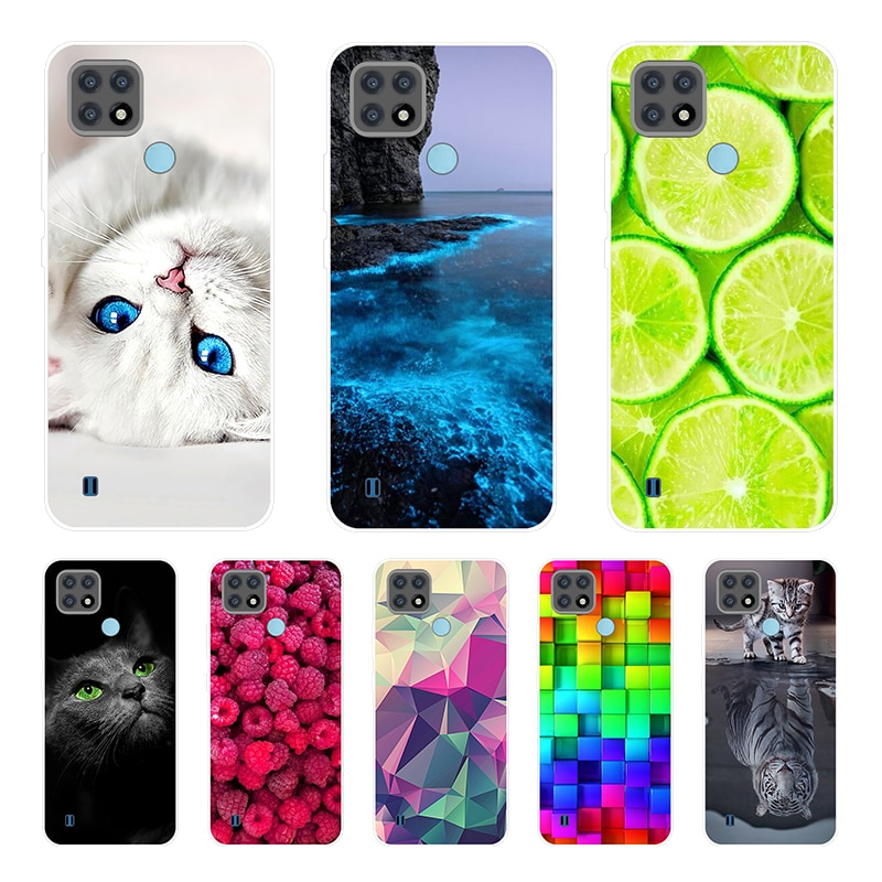 For OPPO Realme C21 Case 6.5'' Clear Bumper Coque Soft TPU Case For Realmi C21 2021 6.5'' C 21 Phone