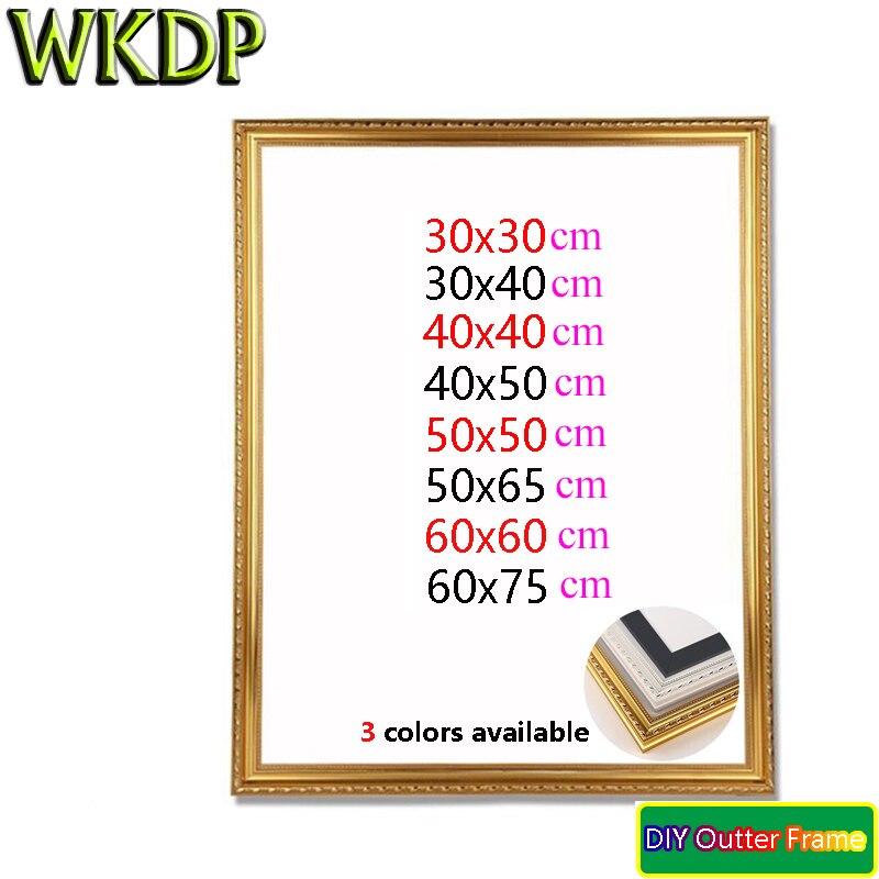 Wkdp diy quadro outter inacabado maca pintura a óleo mosaico de diamante parede grossa decoração casa quadro 12x1 6/16x20inch