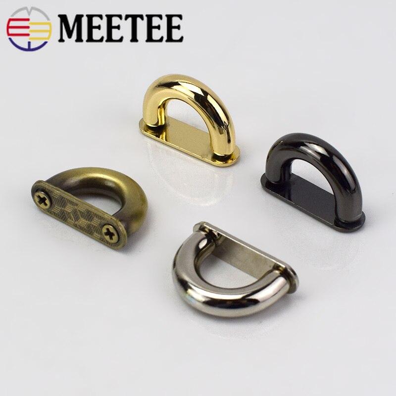10/20 piezas hebillas metálicas para Bolsos Bolso de moda puente de arco con conector de tornillo percha para bolsos cinturones Correa DIY artesanía de cuero