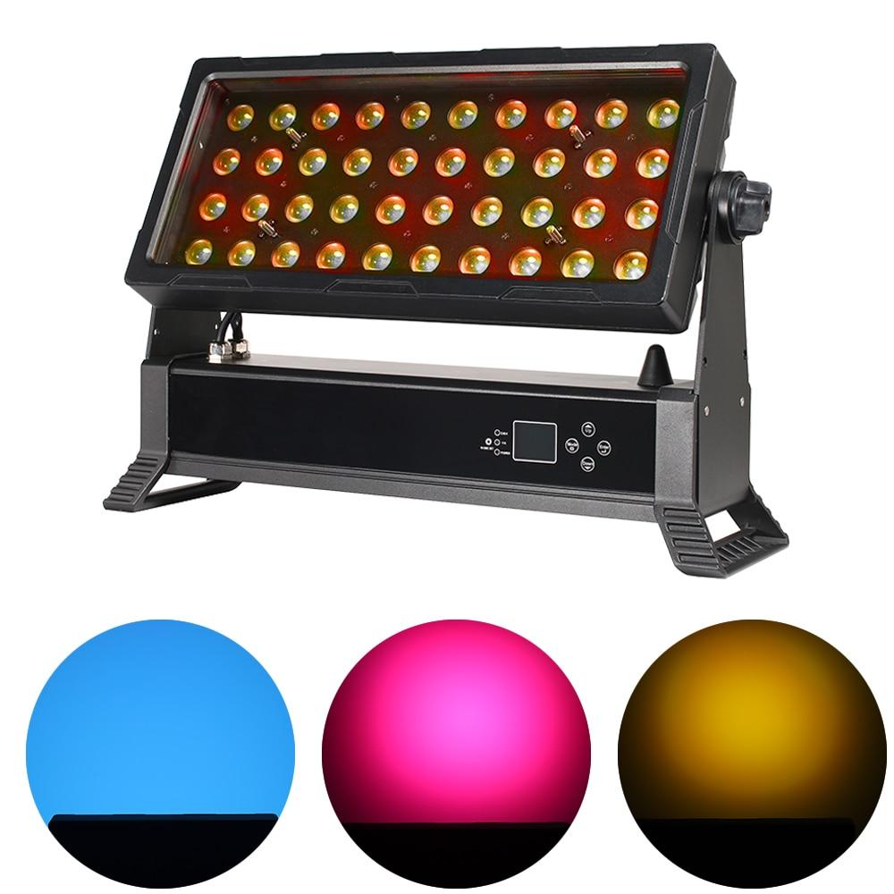 LED 40X10W مقاوم للماء غسل شعاع ضوء لاسلكي DMX512 DJ ديسكو 400 واط كري RGBW 4IN1 المرحلة تأثير الفيضانات مصباح التكبير ستروب مصباح موازي المستوى