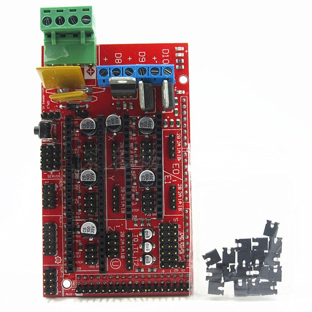 Щит панели прочный экструдер универсальность 3D принтер контроллер части платы аксессуары приводной компонент для Reprap Ramps 1,4