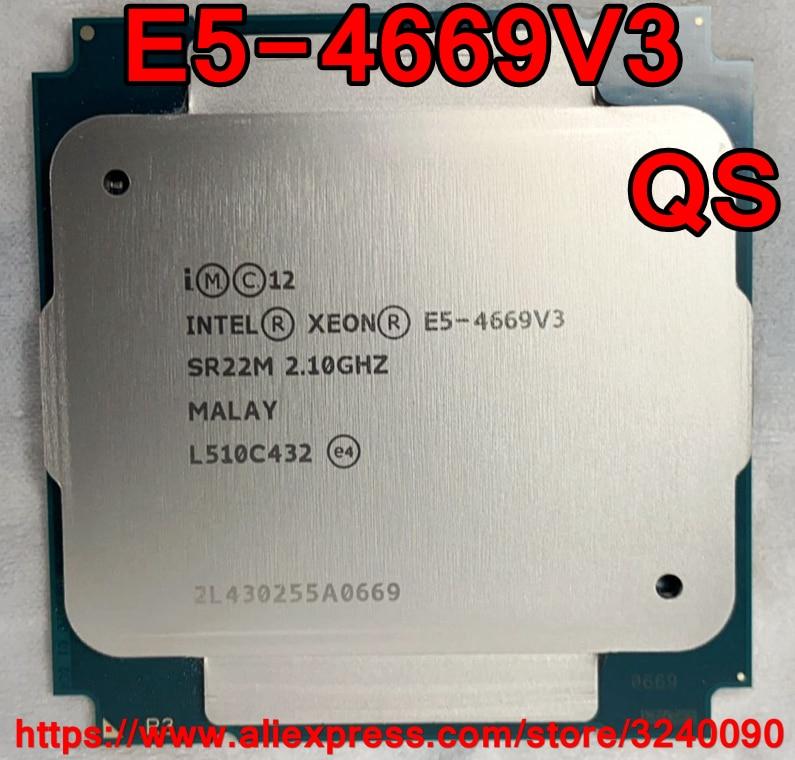 Intel Xeon CPU E5-4669V3 QS wersja 2.10GHz 18-rdzeni 45M LGA2011-3 E5-4669 V3 procesor E5 4669V3 darmowa wysyłka 4669 V3