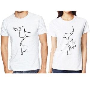 Tshirt Men T Shirt Anime Shirt Harajuku Couple Funny T Shirts Streetwear Graphic Tees Women Cat and Dog T-shirt Kawaii Tops Tee