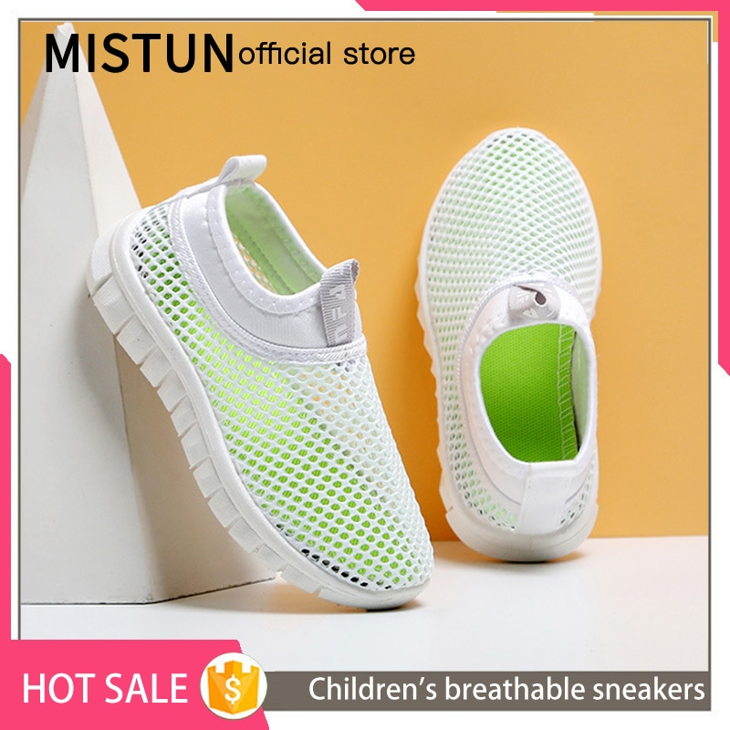 Boys and girls breathable net shoes 2021 summer new children's sports shoes baby net white shoes cas