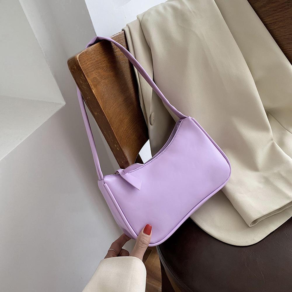Retro Totes Bags For Women 2020 Trendy Vintage Handbag Soft Leather Female Small Subaxillary Bags Casual Retro Mini Shoulder Bag