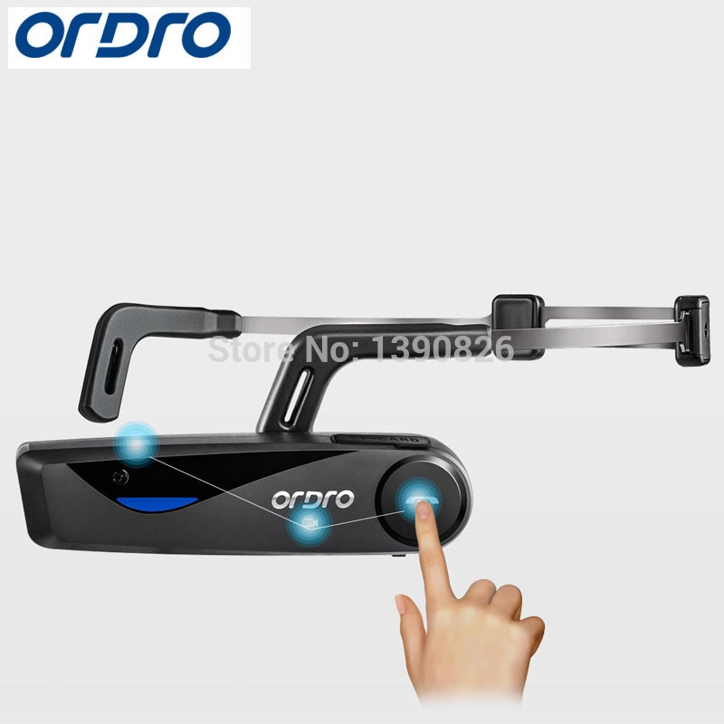 Original ORDRO EP5 Remote Hand Free Head Band Action Mini DV Camera Consumer Camcorders with Earphone WiFi  Video Camera