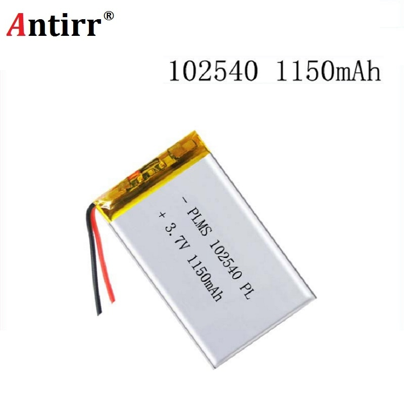 102540 1150mAh 3.7V Rechargeable Lithium Li-Polymer Batteries for LED Lights Lamps Electronic Produc