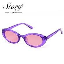 STORY 2019 violet petit ovale lunettes de soleil femmes hommes Vintage rétro Neff teinte Kurt Cobain 90S lunettes de soleil mâle nuances lunettes