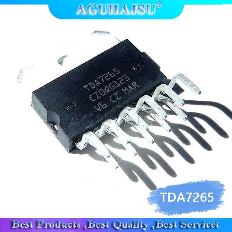 2 pces tda7265 tda7265b zip-11 amplificador de potência de áudio de dois canais