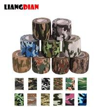 10 rollos 5*450cm desechable autoadhesivo flexible elástico camuflaje vendaje tatuaje mango agarre tubo envoltura codo palo cinta médica
