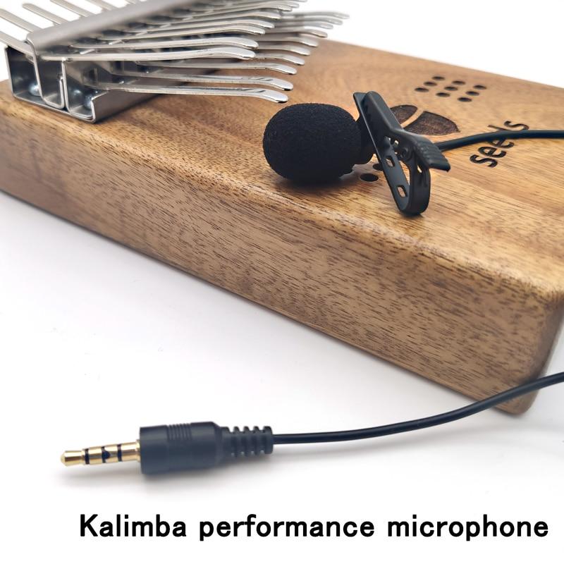 aliexpress.com - Kalimba Performance Mobile Phone Live Recording Microphone Pickup Lavalier Mini 3.5mm Thumb Piano Video Sound Restoration Mike