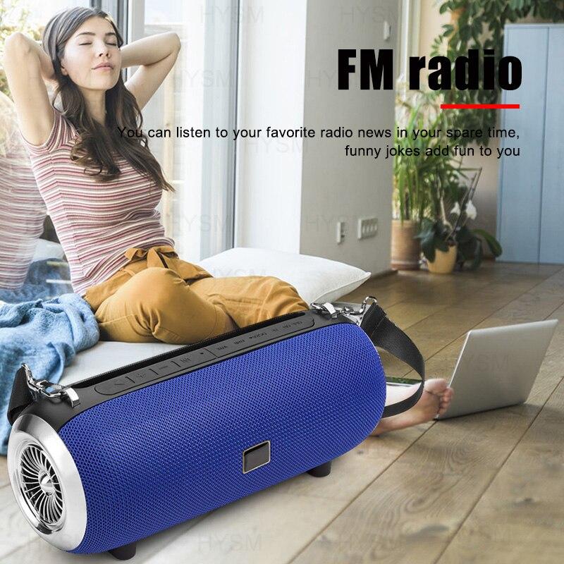 High Power Speaker Wireless Bluetooth Column Powerful Outdoor Portable caixa de som Waterproof Soundbar Boom Box phone holder enlarge