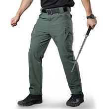 Pantalon à séchage rapide hommes Stretch mince pantalon tactique pantalon survêtement homme pantalon Cargo décontracté armée Combat solide pantalons de survêtement fermeture éclair