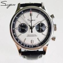 40mm Mechanical Chronograph Sapphire Watch Men 38mm Seagull 1963 Movement st1901Gooseneck Pilot Watc