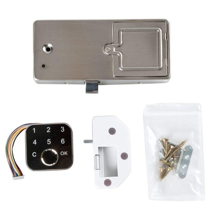 G16 بصمة خزانة كهربائية قفل للدرج لوحة المفاتيح مع اثنين من طرق التثبيت لبنك المنزل مكتب