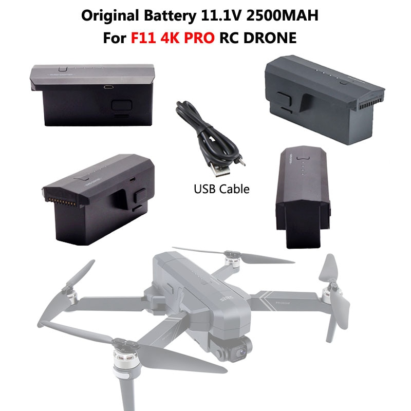 Original 11.1V 2500mAh Lipo Battery For SJR/C SJRC F11 4K PRO Drone RC Quadcopter Spare Parts Aircra