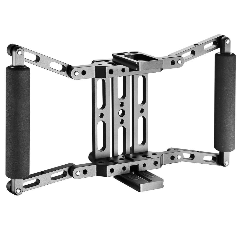Direktor der Monitor Käfig Griff Kit für 7 inch Kamera Feld Monitor für Feelworld Viltrox Aputure Atomos Ikan 7 LCD monitore