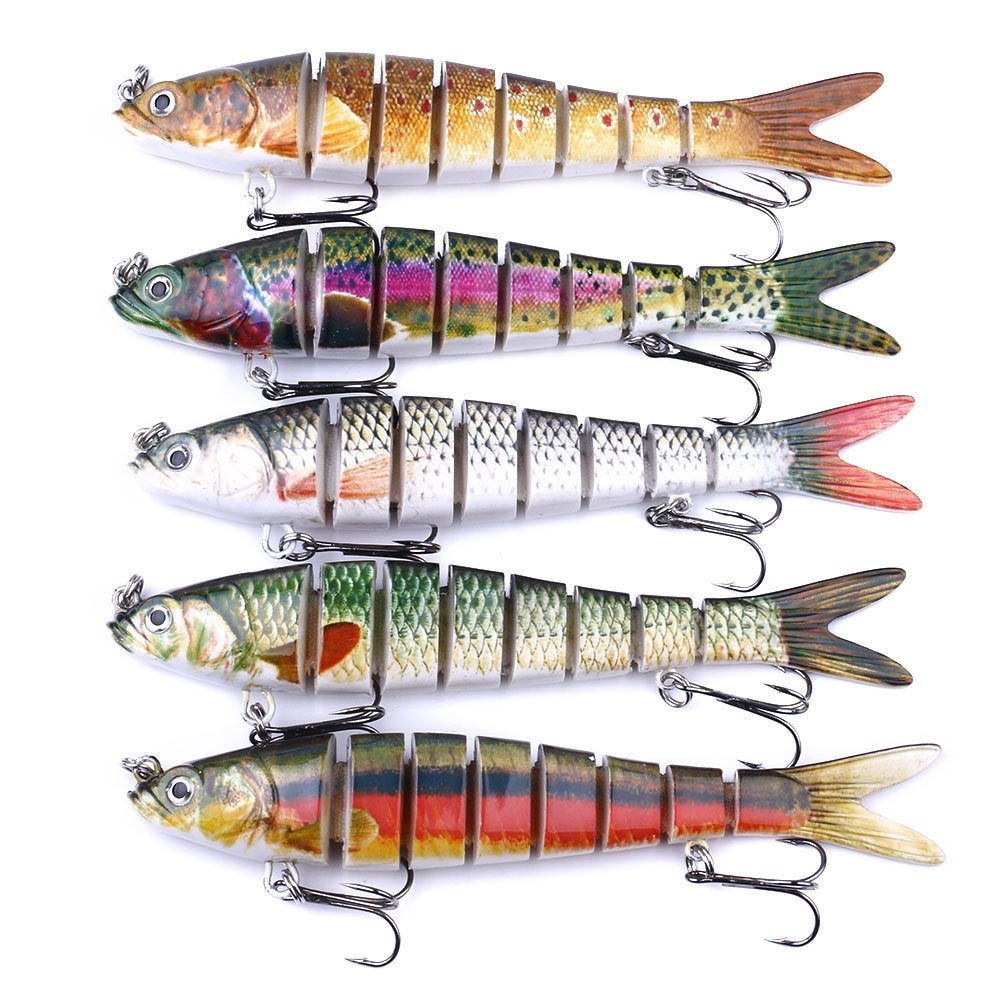 1 PCS 27g Luya Fishing Lure 8-Segement 13.7cm Hook Bionic Artificial Hard Bait Fake Bait Professional Fishing Tackle Accessories enlarge