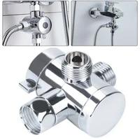 12 bsp chrome 3 way t adapter shower head diverter valve for bath mixer tap three way shower head diverter mount combo chrome